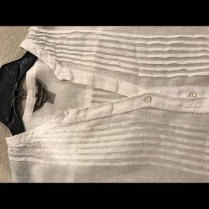 Tommy Bahama White Linen Blouse